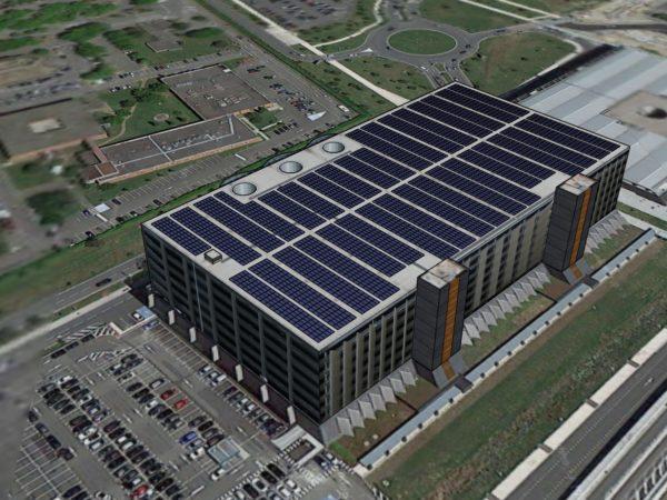 Toiture photovoltaïque de l'Aéroport Toulouse-Blagnac