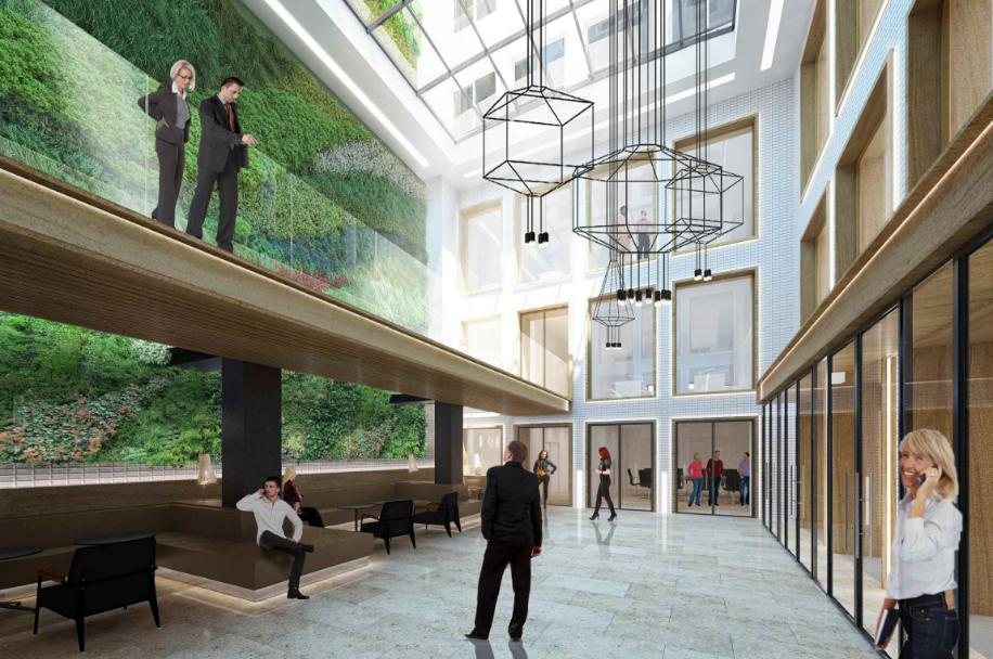 Restructuration d'un immeuble de bureaux de haut standing au 14 rue de Londres à Paris