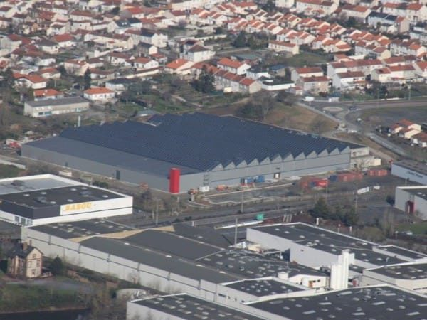 Centrale solaire photovoltaïque en toiture d'un comlexe multi-activités à Cholet