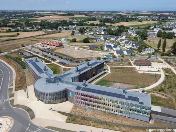 Centrale solaire en toiture de La Caf à Ploufragan (22)
