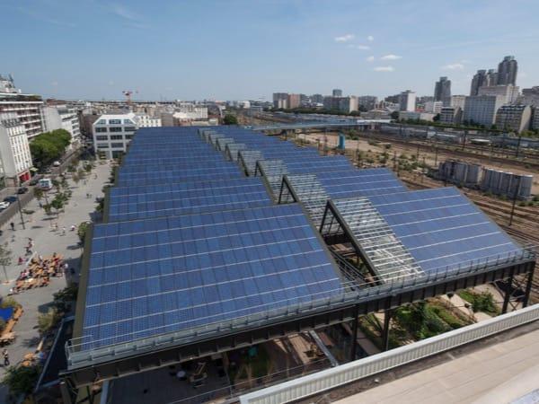 Installation photovoltaïque en toiture à Paris Halle Pajol