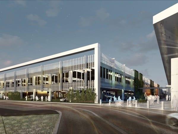 Parking aérien Centre commercial LECLERC