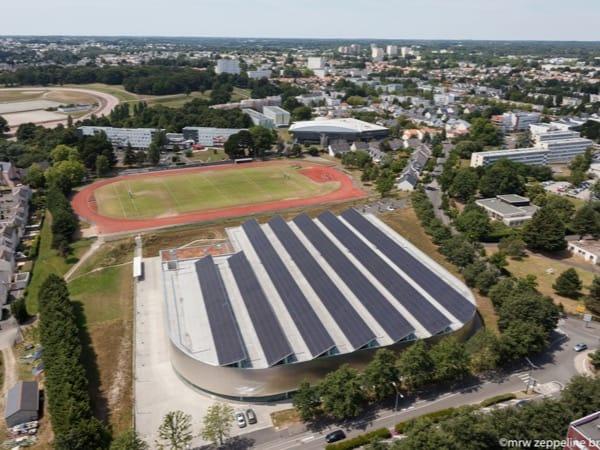Installation photovoltaïque au Stadium Métropolitain Pierre Quinon à Nantes (44)