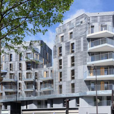 Immeuble de 74 logements sociaux et 3 commerces à Paris