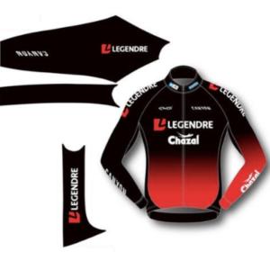 Des maillots arborant le logo Legendre pour la première équipe professionnelle de cyclo-cross en France.